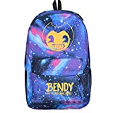 YOUNELO Student's Fashion Bendy And The Ink Machine Printing Leisure Rucksack School Backpack(b5)