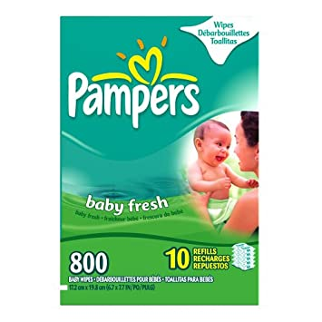 Pampers Baby Wipes Refills, Baby Fresh Scent, 80-Count Packages (Pack of