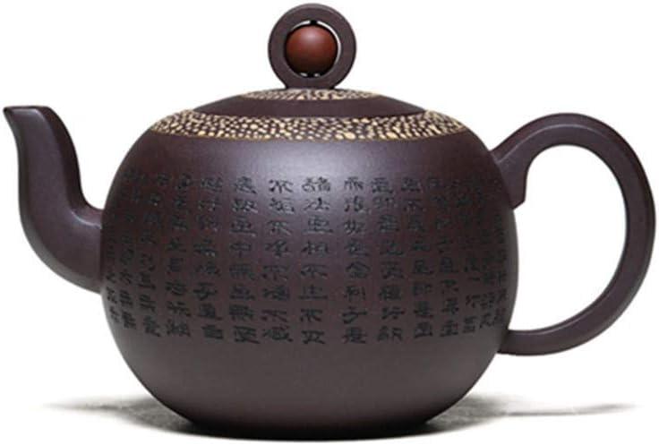 XinQuan Wang 産業とはティーポット鉱石宜興の手作りの紫色の粘土をティーポット角を曲がっ (Color : Purple mud)