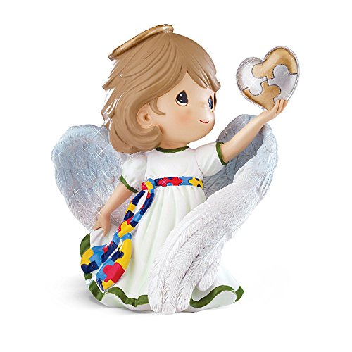 Figurine: Precious Moments Angel Of Hope Autism Figurine by The Hamilton Collection