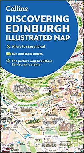 Map Edinburgh.Discovering Edinburgh Illustrated Map Amazon Co Uk Dominic Beddow