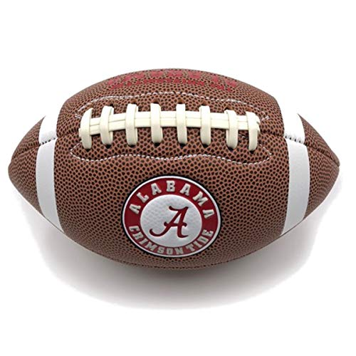 (Jarden Sports Licensing Official National Collegiate Athletic Association Fan Shop Authentic NCAA AIR IT Out Youth Football. Great for Pick up Game with The Kids. (Alabama Crimson Tide))