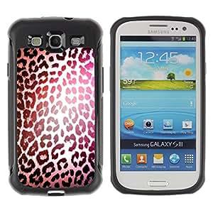 Suave TPU Caso Carcasa de Caucho Funda para Samsung Galaxy S3 I9300 / leopard pattern light reflective fur / STRONG