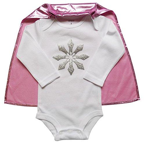[So Sydney Superhero Onesie Romper with Detachable Cape Baby, Toddler, Boy, Girl (L (12-18 Months), Pink Snow] (18 Month Superhero Costumes)