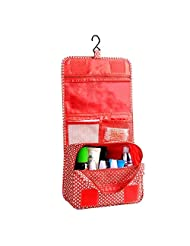 AENMIL Multifunction Folding Travel Storage &Wash bag Waterproof Polyester Fabric Practical Portable Home or Travel Toiletry Packages - Red Plaid