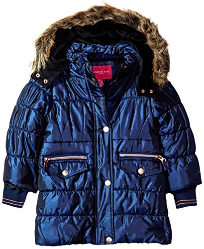 London Fog Burgundy Infant Girls HW Single JKT L217578 Outerwear,Navy,24M