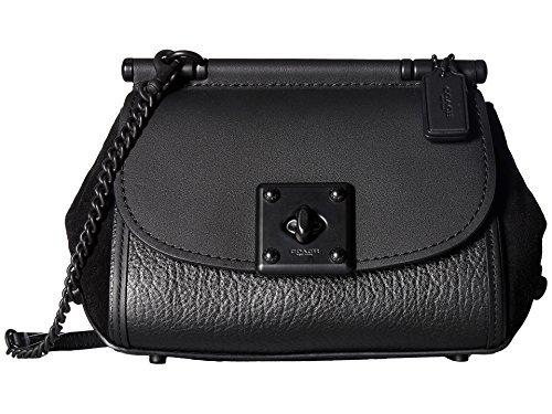 Black Lux Bag (COACH Women's Mixed Leather Drifter Crossbody Mw/Black Crossbody Bag)