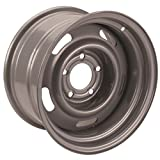 Steel GM-Style 15x8 Rally Wheel, 5 on 5 Bolt Pattern, Chrome