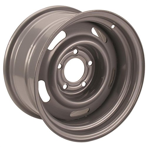 Steel GM-Style 15x7 Rally Wheel, 5 on 5 Bolt Pattern, Silver (15x7 Steel)