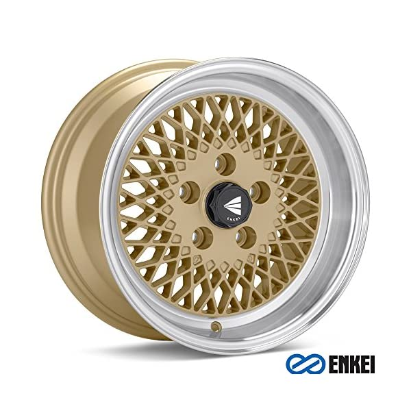 15×8-Enkei-ENKEI92-Gold-w-Machined-Lip-WheelsRims-4×100-465-580-4925GG