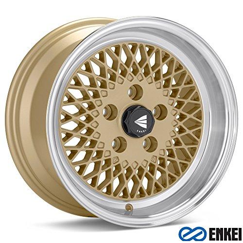 15×7 Enkei ENKEI92 (Gold w/ Machined Lip) Wheels/Rims 4×114.3 (465-570-4838GG)