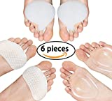 Metatarsal Pads for Women & Men Metatarsalgia Insoles Ball of Foot Silicone Cushions Soft Gel Foot Care for Heels Foot Pain Relief (6 Pieces)