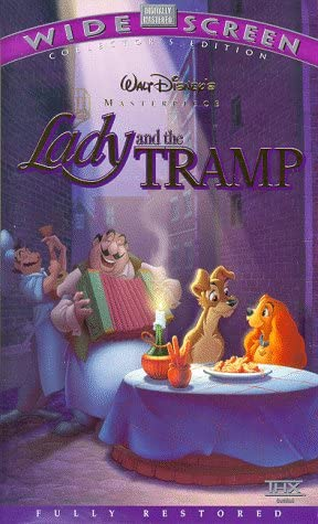 Amazon Com Lady And The Tramp Vhs Barbara Luddy Larry Roberts Peggy Lee Bill Thompson Bill Baucom Verna Felton George Givot Stan Freberg Lee Millar Dal Mckennon Alan Reed The Mellomen Clyde Geronimi