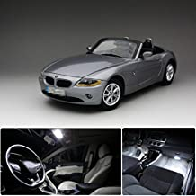 FEZZ 11pcs Car Interior LED Light Bulbs Package Kit White for BMW E85 Z4 2003-2006 Convertible