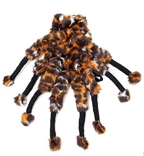 Tarantula Dog Halloween Costume (Fuzzy Orb Spider Dog Costume by Midlee fits 12