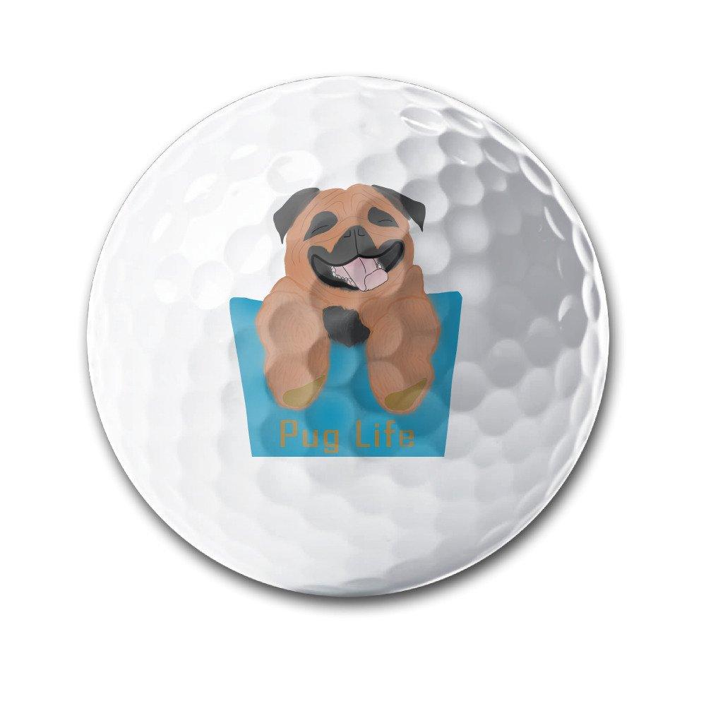 ポケットPug Lifeホワイト伸縮ゴルフボール練習ゴルフボールGolf Training Aid Balls B075H93S5K
