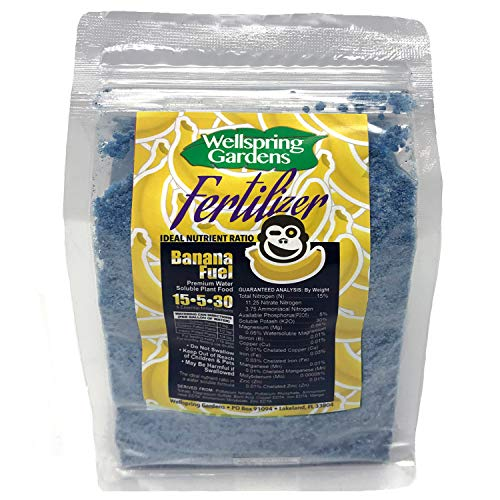 BANANA FERTILIZER- 2 POUNDS - Make your bananas happy! Banana Fuel Water soluble plant nutrients (Best Fertilizer For Banana Plants)