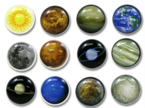 Red Solar Earth (Red Rock 3D Semi-circular Solar System Planets Sun Moon Mercury Venus Earth Mars Jupiter Saturn Uranus Neptune Pluto Galaxy 12 Pieces Bubble Home Button Stickers for iPhone 5 4/4s 3GS 3G, iPad 2, iPad Mini, iTouch)