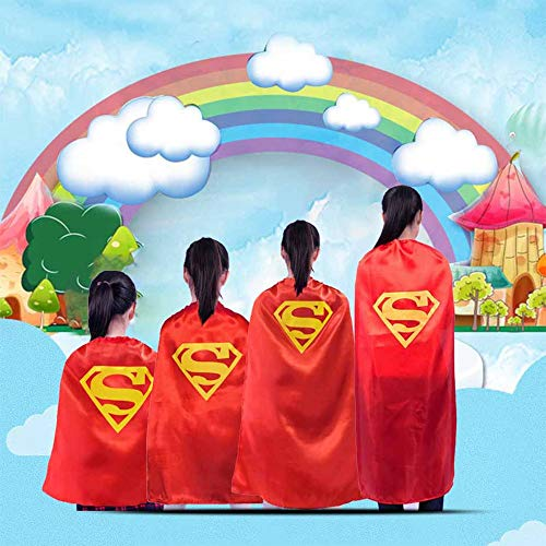 Dress Up Costumes Kids Comic Party Children Cartoon Superhero Superman Capes for Kids Costumes Cosplay Clothing Dress Up Party Games DIY Birthday Gifts (Random) -