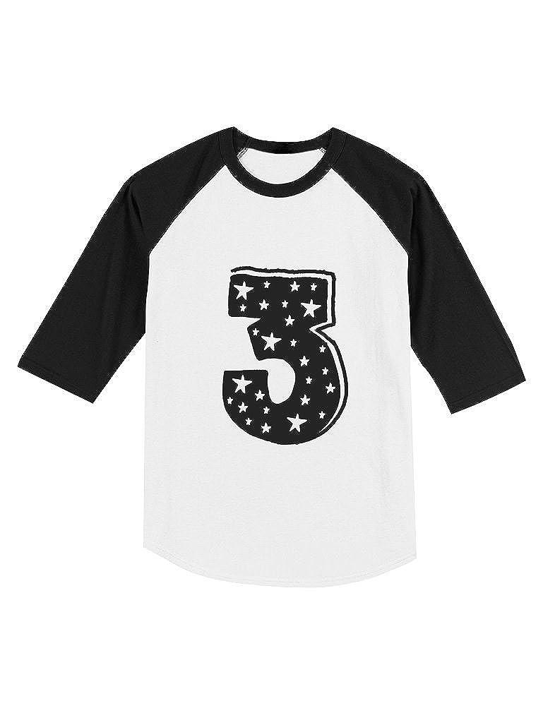 Im 3 Years Old Birthday Gift Superstar Toddler Raglan 3//4 Sleeve Baseball Tee