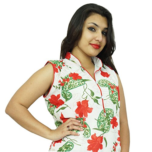 Diseñador de Bollywood Kurta Mujeres étnico Kurti ocasional superior de la túnica vestido Blanquecino