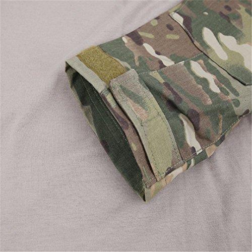 QCHENG Chemise de Combat Militaire Homme Airsoft Shirt Tenue Camouflage Uniforme Tactique Séchage Rapide à Manches… 4