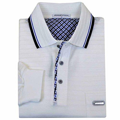 DUNLOP(ダンロップ) メンズ 男性用ゴルフポロ 長袖 大きいサイズ ポロシャツ 花粉対策素材 出雲ブランド dp12 3L オフ白