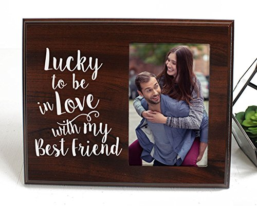 Lucky to be in love Romantic Gift picture frame for boyfriend gift...