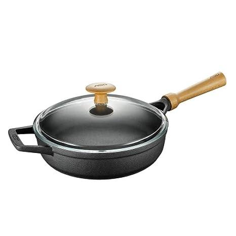 ZHANGY Pan Sartén, sartenes de Cocina, Antiadherente, Hierro Fundido, Utensilios de Cocina
