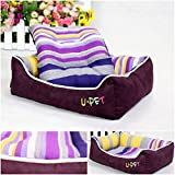 1Pc First-class Popular Pet Bed Size L Nest Pad Furniture Cat Mat Color Purple