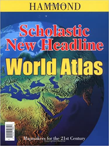 Scholastic new headline world atlas hammond atlases 9780843708646 scholastic new headline world atlas hammond atlases revised edition gumiabroncs