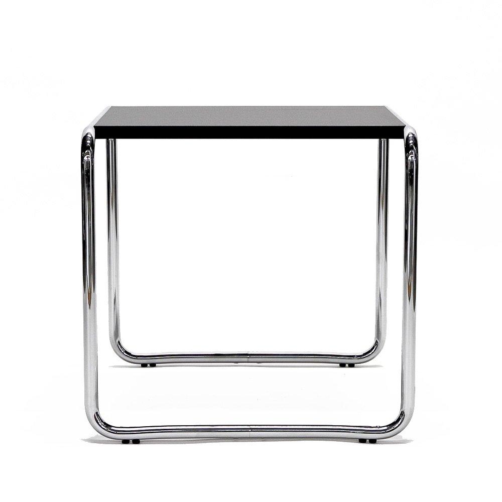 Matrix International BR 09 1 Tisch mit Platte quadratisch, Metall, Chrom schwarz, 55 x 48 x 45 cm