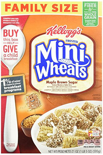 Kellogg's Frosted Mini Wheats Bite Size Maple Brown Sugar 21-ounce (Pack of 4) (Grain Maple 4)