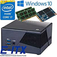 Gigabyte GB-BXI7-5775 Core i7 BRIX Pro Mini PC System, 4GB Dual Channel DDR3L Memory, 60GB mSATA, WiFi, Bluetooth, Window 10 Pro Installed & Configured by E-ITX