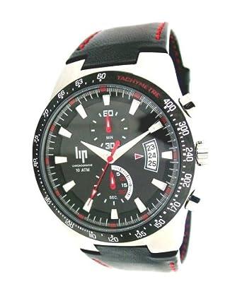 158ae81dfe Lip - 1059712 - Montre Homme - Quartz analogique - Bracelet en Cuir noir