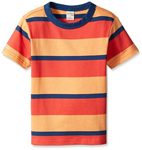 Scout + Ro Boys' Jersey Crew Neck Tee, Robert Red, 4