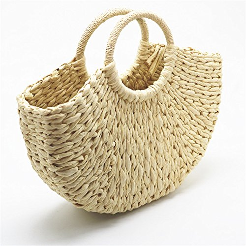Anuan And Womens Travel beige Bag Beach For Shoulder Bag Use Summer Everyday Handbag Straw RwrqgR