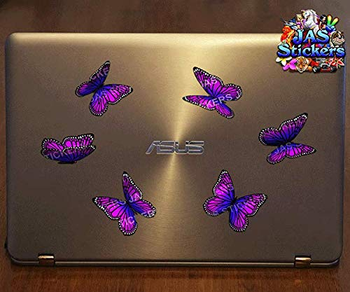Pink JAS Stickers/® BUTTERFLY Monarch ANIMAL CAR DECAL Small Vinyl Stickers Pack For Laptop Bicycle Jetski Caravan ST00028PK/_SML