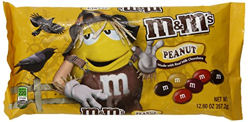 M&M's Halloween Peanut Chocolate Candy, 12.60-Ounce (Pack of 6) ()