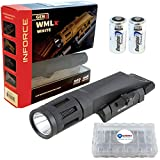 Inforce WMLx Gen 2 Weapon Mount Tactical Light 800 Lumens Bundle with 2 Extra Energizer CR123 Batteries and a Lightjunction Battery Case