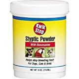 Miracle Care 423636 Kwik-Stop Styptic Powder 6 Ounce Resealable Tub, My Pet Supplies