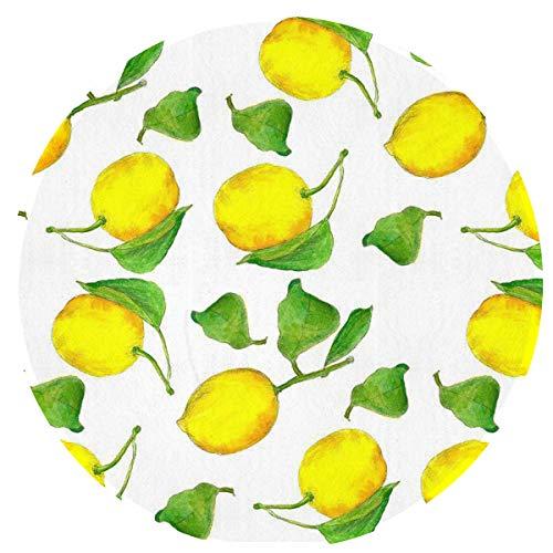 SuperJK Chair Floor Anti-Slip Round Mats - Home Area Lemons Art Decor Rugs, Bedroom, Bath Room, Kitchen Doormat, Comfortable Kids Washable Splat Mat Blanket, Diameter 24 Inches