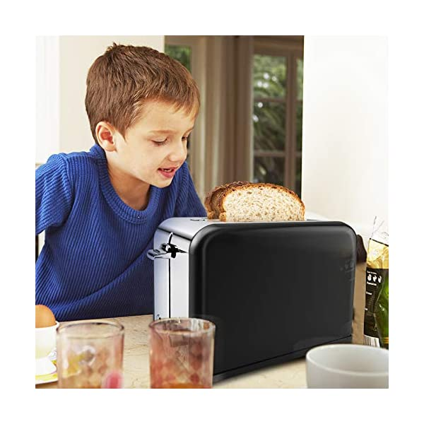 Tostapane 2 Fette, Tostapane per Toast 6 Livelli di Tostatura morpilot Tostapane Funcioni di Automatico Riscaldamento… 3