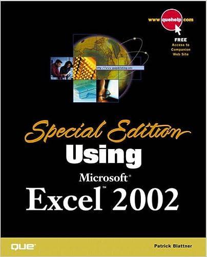 Special edition using microsoft excel 2002 door patrick blattner.