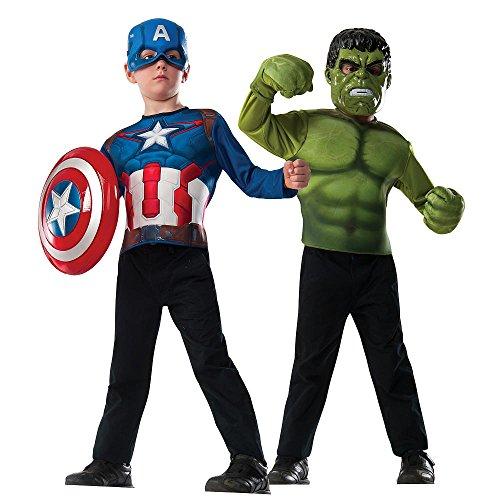 Marvel Avengers Captain America and Hulk Dress Up Set (Marvel Dress Up)