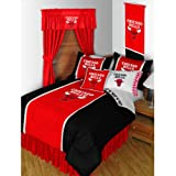 Chicago Bulls 3 Pc FULL / QUEEN Comforter Set - (1 Comforter and 2 Pillow Shams) SAVE BIG ON BUNDLING!