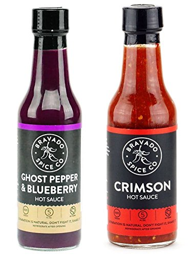 Bravado Spice Co. Hot Sauce 5 oz Bottles Gift Set (GHOST PEPPER + CRIMSON) by Unknown (Image #1)'