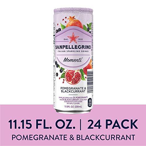 Sanpellegrino Momenti Pomegranate & Blackcurrant Cans, 11.15 Fl Oz, Pack of 24