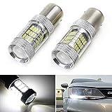 iJDMTOY (2) CANbus Error Free HID White 1156 Mirror Reflector LED Bulbs for 2011-2017 Volkswagen MK6 Jetta Daytime Running Lights