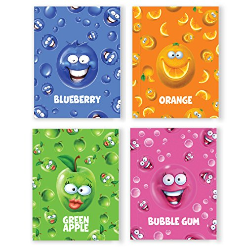 Crayola Silly Scents Sketch & Sniff Note Pad Bundle - Blueberry, Green Apple, Bubble Gum & Orange Scented